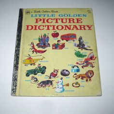 Vintage Little Golden Book Picture Dictionary