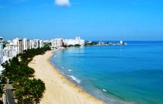The famous Isla Verde Beach near the Airport A great beginning for your Puerto Rico Vacations.
