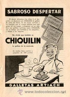 Página Publicidad Original *Galletas CHIQUILÍN de ARTIACH* De Agencia Publicidad OESTE -- Año 1956