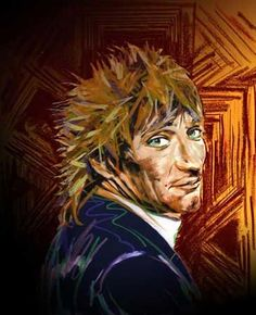 Sir Rodney, rod the mod, Rod Stewart by Ronnie Wood Ronnie Wood Art, Ron Woods, Wow Art, London Art, Humor, Concert Posters, Painting On Wood, Music Artists, Find Art