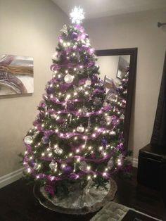 Purple and silver Christmas tree