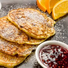 These lovely pancakes are surprisingly light and delicate, even though they are loaded with cottage cheese.