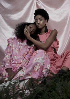 African american women melanin pink art print   Etsy