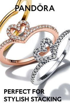 The wishbone ring gets a heart-shaped upgrade. Mix metals, shapes and textures with these stackable pieces and find the perfect combination to express your unique style. Creative Birthday Gifts, Birthday Presents, Boyfriend Stuff, Boyfriend Gifts, Pandora Rings, Pandora Jewelry, Ring Bracelet, Bracelet Watch, Cute Jewelry