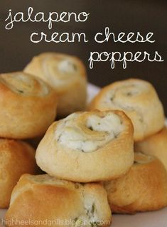 Delicious!  High Heels and Grills: Jalapeno Cream Cheese Poppers. Only 3 ingredients and they taste fabulous!