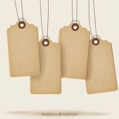 Sale tags with texture Free Vector Watercolor Cards, Watercolor Illustration, Paper Bag Design, Tag Templates, Vector Free Download, Tag Design, Free Graphics, Shops, Creations