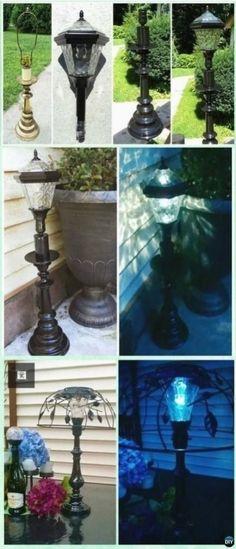 Ideen für garten heimwerken solarleuchten Garden Lighting Diy, Backyard Lighting, Outdoor Lighting, Lighting Ideas, Outdoor Decor, Diy Solar, Solar Light Crafts, Backyard Solar Lights, Diy Luz