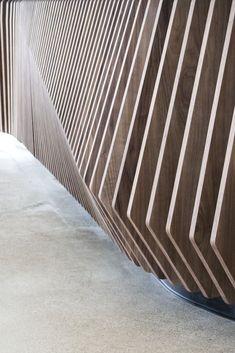 Thrive Juicery by Synecdoche Design Studio Partition Design, Facade Design, Fence Design, House Design, Partition Walls, Architecture Portfolio, Facade Architecture, Architecture Diagrams, Wooden Facade