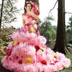 ウェディングドレス_ウエディングドレス_二次会ドレス_カラードレス_花ドレス (c090)|ROOM