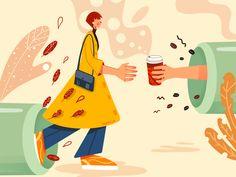 Coffee lover designed by Yogatella. Coffee Break, Drawing S, Pikachu, Lovers, Illustration, Instagram, Art, Art Background, Illustrations