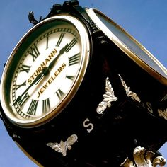 A great shot of the historic street clock, now at it's new location at 28th Broadway.