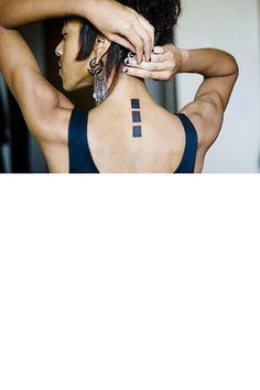réctangle tatouage