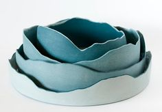 Maude Blais - Diademe Marin 3 Inspiration for my tea bowl. Round bottom of mason stained porcelain with jagged edge.