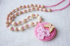 Nursing Teething necklace for breastfeeding by NecklacesForMommy, $25.00