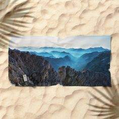 Mountains Breathe Too Beach Towel by Mixed Imagery | Society6