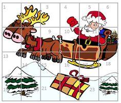 Mes calendriers coloriage et découpage de l'Avent | BLOG GS CP CE1 CE2 de Monsieur Mathieu JEUX et RESSOURCES