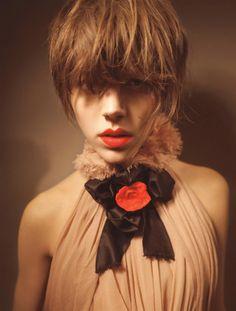 A Charming Blend Vogue Italia, October 2008 Photographer: Glen Luchford Model: Freja Beha Erichsen Fashion Shoot, Fashion Beauty, Girl Fashion, Glen Luchford, Lipstick Style, Freja Beha Erichsen, High Fashion Models, Top Models, Long Fringes
