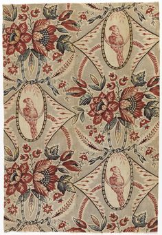 block printed - linen warp, cotton weft - 1775 - I am drooling all over my keyboard!