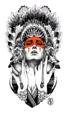 iainmacarthur:    Indian goddess (commission done for rook clothing)  2011  By Iain Macarthur