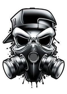 Black and Grey Hardcore Street Ink Street art inspired black and grey temporary . - Black and Grey Hardcore Street Ink Street art inspired black and grey temporary tattoos. These tatt - Skin Color Tattoos, Body Art Tattoos, Tattoo Drawings, Gas Mask Art, Masks Art, Gas Mask Drawing, Skin Drawing, Drawing Drawing, Graffiti Drawing