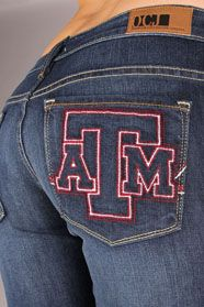 Texas A Aggies Branded Skinny Jeans in Deep Indigo Aggie Game, The Rok, Texas A&m, Cute Jeans, Jean Skirt, Jeans Style, To My Daughter, Cute Outfits, Skinny Jeans