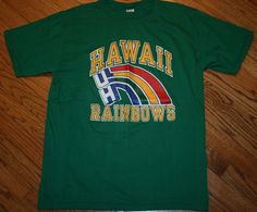 Vintage HAWAII RAINBOWS Champion label green T-Shirt tee Men's XL X-Large New #Champion #GraphicTee