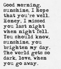 Good Morning Sunshine - Alex Day