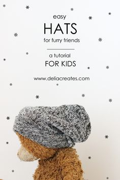 Easy Hats For Furry Friends - A Sewing Tutorial for Kids! - delia creates