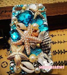 Bling ocean themed phone case
