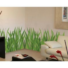 Today's project... Try to paint something similar on Brennyn's walls. Must add bugs of course! :)