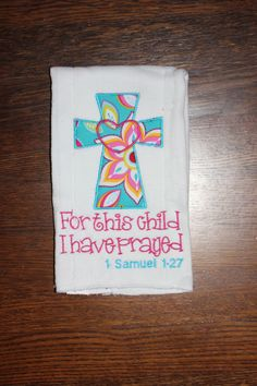 Bible Verse Cross Burp Cloth by BepBoutique on Etsy, $10.00