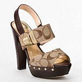Two of my favorite things together: Coach and Wooden Heeled Sandals! Will have to blog about them on http://shoeaholicsanonymous.com !