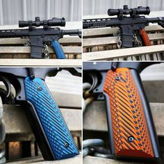 LOK Grips' Grip - 1911 Style These grips are made to fit the Indian Creek Grip Adapter Weapons Guns, Guns And Ammo, Shooting Table, Firearms, Shotguns, Nerf Toys, Ar 15 Builds, Airsoft Gear, Submachine Gun