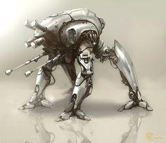 concept robots: Concept robot art by Sean Yoo
