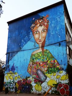 La jardinera. uno de los murales en el Museo a Cielo Abierto de San Miguel. Gran ejemplo de arte callejero y embellecimiento de los barrios.
