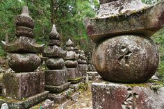 Tomb stones - Okunoin cemetery of Koyasan by Phil Marion, via Flickr