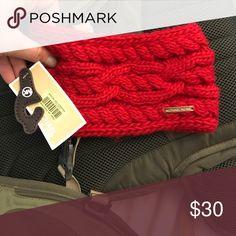 Michael Kors red corded earwarmer Michael Kors red corded earwarmer NWT Michael Kors Accessories Hair Accessories