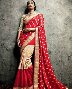3ffb4a035c394f Buy Vishal Iifa Collection By Vikram Phadnis Maroon Embroidered Saree  Online - 4247127 - Jabong