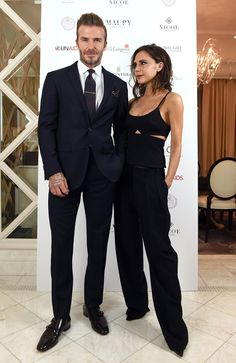 Victoria Beckham and David Beckham's date night style is on point.