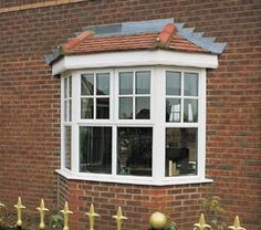 Weatherall specialises in uPVC double glazed windows and doors Melbourne, Offering secure & energy efficient double glazing windows an Affordable rate. Porch Windows, Cottage Windows, Upvc Windows, Front Windows, House Windows, Windows And Doors, Bay Windows, Front Doors, Bay Window Exterior