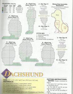 dachshund 2-4 plastic canvas pattern