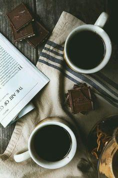 coffee and chocolate :: I LOVE my morning, afternoon and night coffee. sucking on dark chocolate while sipping coffee But First Coffee, I Love Coffee, Coffee Break, Morning Coffee, My Coffee, Black Coffee, Spiced Coffee, Coffee Corner, Coffee Pods