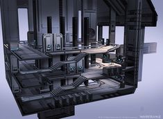 ArtStation - Warframe - Corpus Gas City - ContRoom F, Zeljko Duvnjak