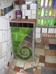 nz toilet Hunderwasser design where he lived in Kawakawa
