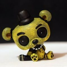 Golden Freddy as lps Custom Lps, Best Christmas Toys, Pole Bear, Lps Toys, Fnaf Sister Location, Little Pet Shop, Modelos 3d, Five Night, Clay Creations