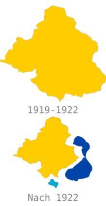 Provinz Oberschlesien – Teilung der Provinz 1922