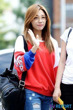 Eunji with glasses