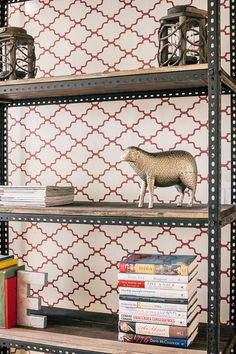 You know the metal shelf you have in your garage?  Drag it into the house and use it.