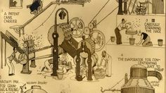 The first exhibition of William Heath Robinson's artwork is on until the end of the week.