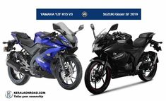Compare yamaha-yzf-r15-v3 Vs suzuki-gixxer-sf-2019 Vs Body type, features, price and specifications comparison, all appear in a single window making it easier.